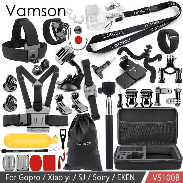 Vamson for Gopro hero 8 7 6 5 Accessories Set for SJCAM M10 for SJ5000 case EKEN SOOCOO for Xiaomi for yi 4k Action Camera VS100