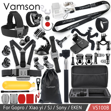 Vamson 移動プロ hero 8 7 6 5 アクセサリーセット SJCAM ため M10 ため SJ5000 ケース EKEN SOOCOO xiaomi 李 4 18k アクションカメラ VS100