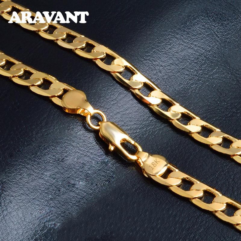 925 argent 4MM/6MM/8MM 18K or plat collier chaînes pour hommes femmes mode bijoux accessoires