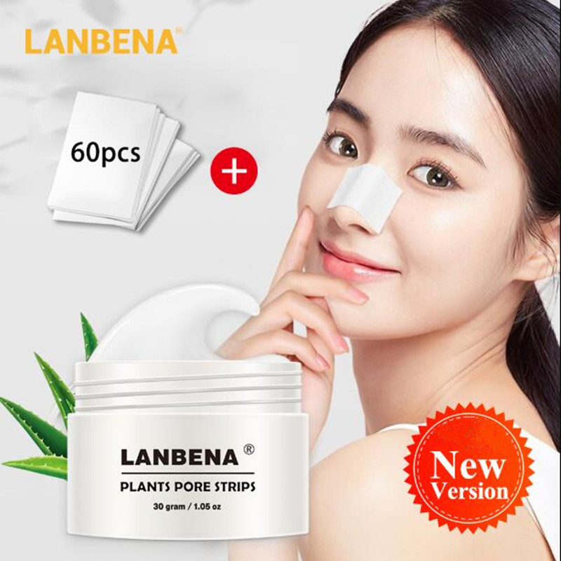 LANBENA Face Mask From Black Dots Black Head Remover Black Mask With Hyaluronic Acid Aloe Vera Skin Care Shrink Pore Deep Clean