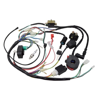 Atv 150Cc 200Cc 250Cc Ignition Coil Harness Switch Assembly Wiring Harness Coil Rectifier CDI ATV Solenoid Spark Plug Quad Pit D for 50cc 110cc 125cc pit quad dirt bike atv motorcycle cdi wiring harness loom solenoid ignition coil rectifier