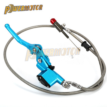 Motorcycle Aluminium Hydraulic Clutch 900mm 1200mm Silver Lever Master Cylinder Clutch For 125-250cc Vertical Engine Motocross 1200mm hydraulic clutch lever master cylinder with mirror holder for dirt bike pit bike off road motorcycle
