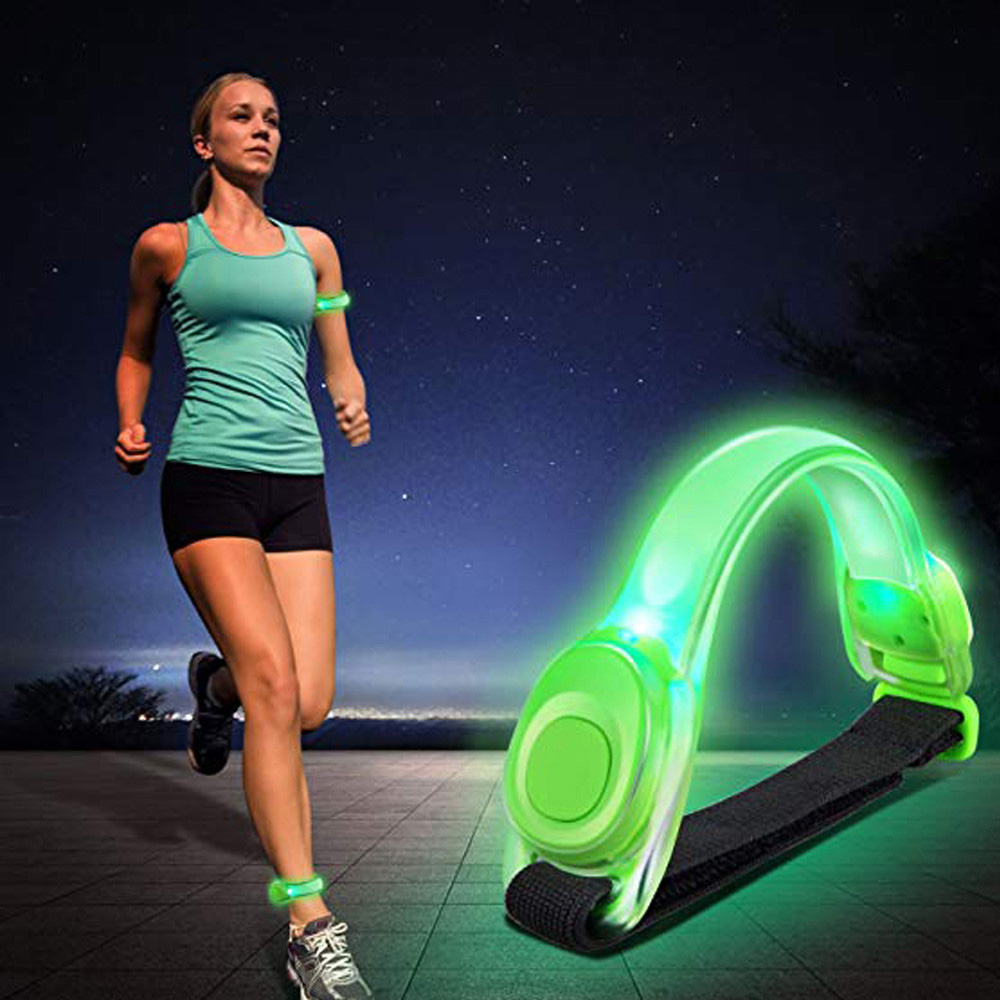 Night Running LED Safety Light Lamp Arm Strap Reflective Bracelet For Runners Jogger Cyclists Bike Warnning Light