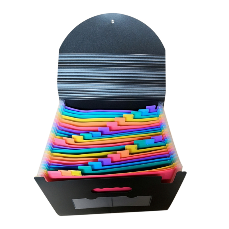 24-Layer Big Document Bag Rainbow Accordion A4 Classification Test Papers Tool Business Expanding File Folders Filing Products