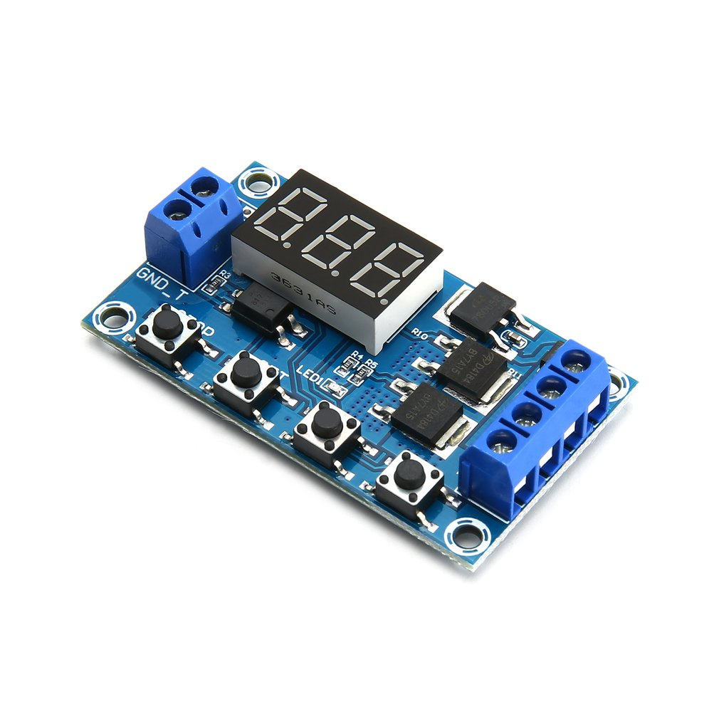 Dual MOS <font><b>LED</b></font> Digital Time Delay Relay Trigger Cycle Timer Delay Switch <font><b>Circuit</b></font> <font><b>Board</b></font> Timing Control Module DIY DC <font><b>12V</b></font> 24V image