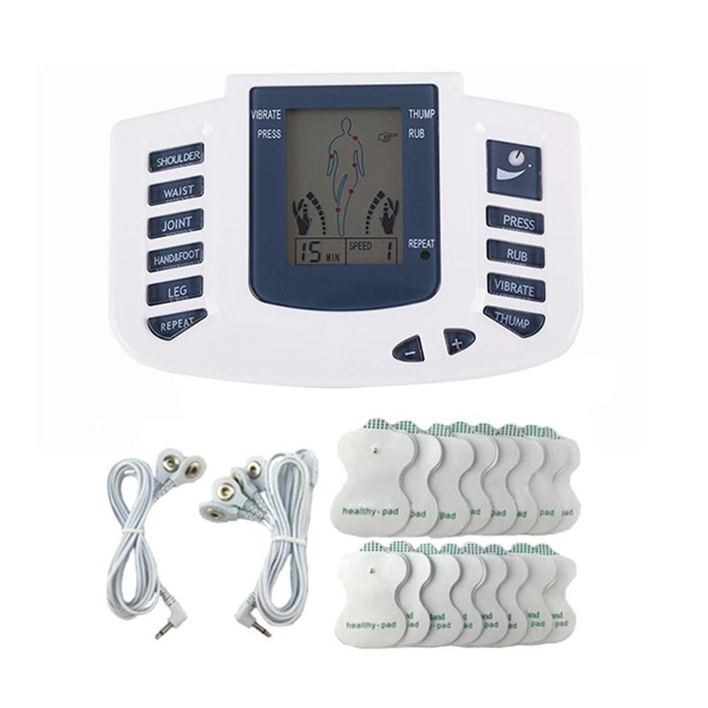 Full Body Electric Stimulator Muscle Relax Device Therapy Acupuncture Pulse Tens Body Massager With 8 Pair Pads Tool Set