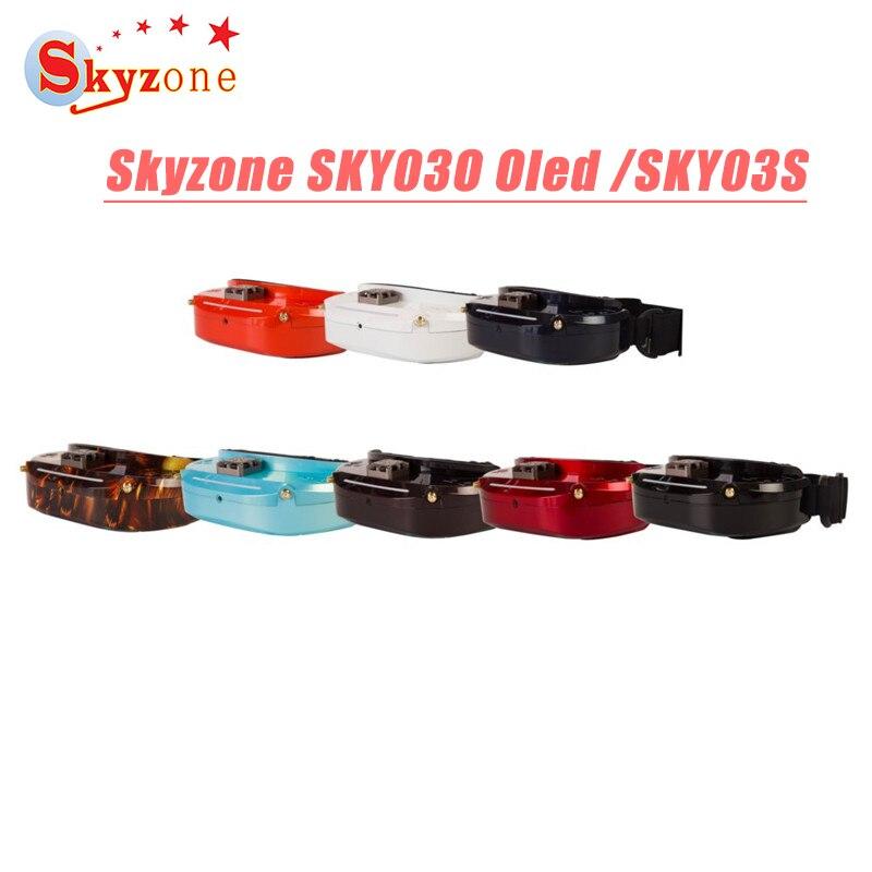 Skyzone SKY03O Oled/SKY03S/SKY02C/SKY02X 5.8GHz Diversità FPV Occhiali 48CH Per RC Drone Acc OSD DVR HDMI & Fan Testa LED