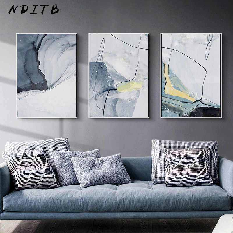 Marble Stone Texture Abstract Wall Poster Canvas Art Print Modern Style Painting Minimalist Nordic Decoration Picture Home Decor