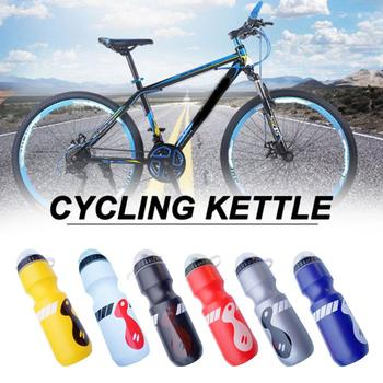 750ML Mountain Bike Bicycle Cycling Water Drink Bottle+Holder Cage Outdoor Sports Plastic Portable Kettle Water Bottle Drinkware 750ml non toxic odorless aluminum alloy sports water bottles cycling camping bicycle bike kettle outdoor riding sports kettle