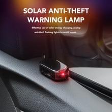 Luz de segurança falsa automotiva, luz de segurança falsa solar simulada manequim aviso sem fio antirroubo cautela led pisca-pisca imitação
