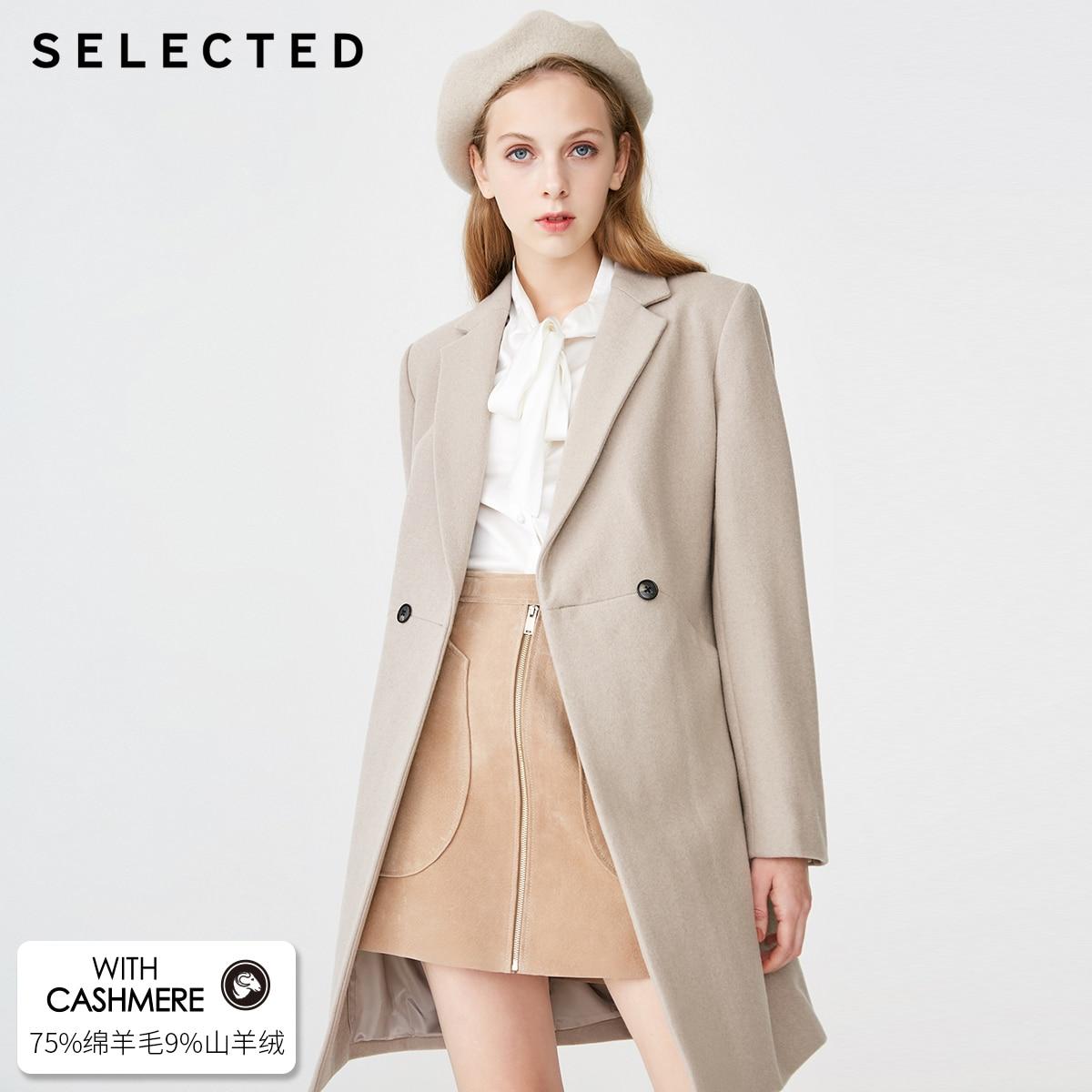 SELECTED Women's Mid-length Pure Color Woolen Overcoat SIG|419127506