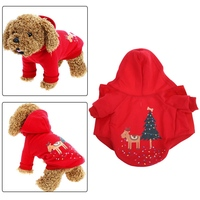 Christmas Puppy Dog Winter Pet Warm  Clothes Holiday Apparel Outfit Bulldog Pug Hoodies Thickening Coat Hoodie Pd