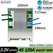 Inteligentne BMS 4S 60A/80A/100A/120 12V LiFePO4 Bluetooth PCM z Android Bluetooth aplikacji UART oprogramowania (APP) Monitor
