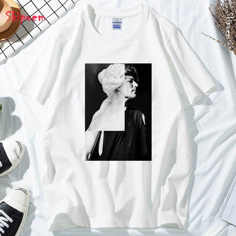 Louis Tomlinson Women Tshirt Punk Gothic Kawaii Aesthetic Korean Style Short Sleeve Plus Size Skipoem Tee Shirt Femme Clothes|T-Shirts| - AliExpress