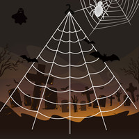 Гигантские эластичные паутины Хэллоуин cobweb-террор вечерние украшения бар дом с привидениями Хэллоуин Пауки веб Хэллоуин Декор