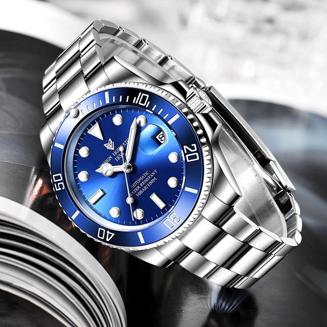 2020 LIGE Watch Men Automatic Mechanical Tourbillon Clock Fashion Sapphire Glass 316L Steel 100 Waterproof Watches NH35 Movement 2