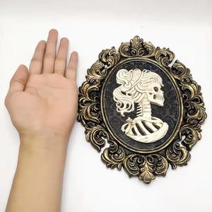 Image 4 - Moule en silicone de mariée pour crâne créatif, Halloween, cadre photo, décoration personnalisée, barre, bricolage concret en résine