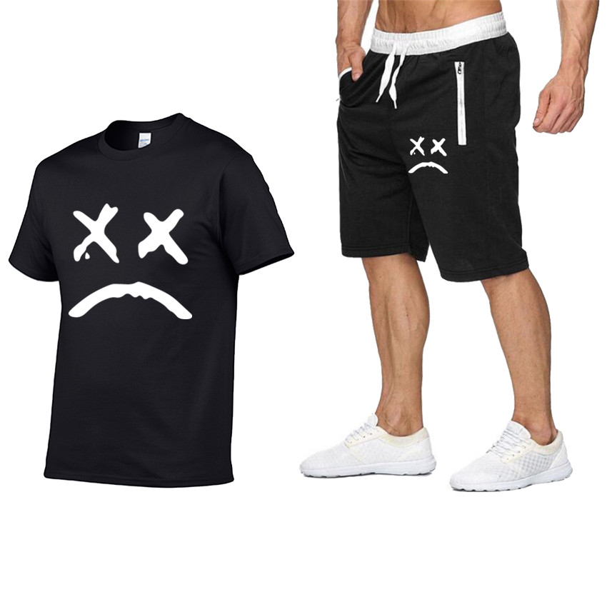 Tracksuit For Men, Summer Great Deal, Men's T-shirt And Shorts Sets, Two Piece Sets, Casual Tracksuit, Men's Round Neck Plain Sp