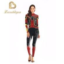 Железный костюм спайдермена для косплея для женщин, женский комбинезон, костюм Человека-паука, костюм для взрослых, комбинезон, боди размера плюс