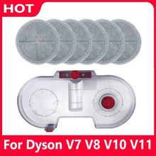 Electric Water Tank+6 Mop Cloths For Dyson V7 V8 V10 V11 Vacuum Cleaner Accessories Housheold Cleaning Tool Mopping New