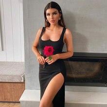 Adyce 2021 Новое летнее женское черное облегающее Бандажное