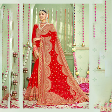 High Quality Indian Sari Bollywood Style Women Wedding Dress Gorgeous Traditional Costume Embroidery