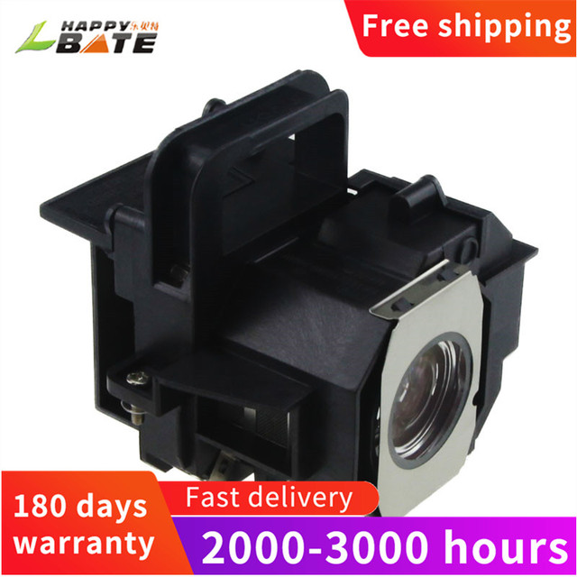 HAPPYBATE ELPLP49/V13H010L49 Compatible Lamp with Housing for EH TW3200 EH TW3500 EH TW3600 EH TW3800 EH TW4000 TW4400 TW4500