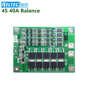 4S 40A BMS With Balance 14.8V 16.8V 18650 BMS Lifepo4 Lithium battery protection board Battery management system For Drill Motor(China)