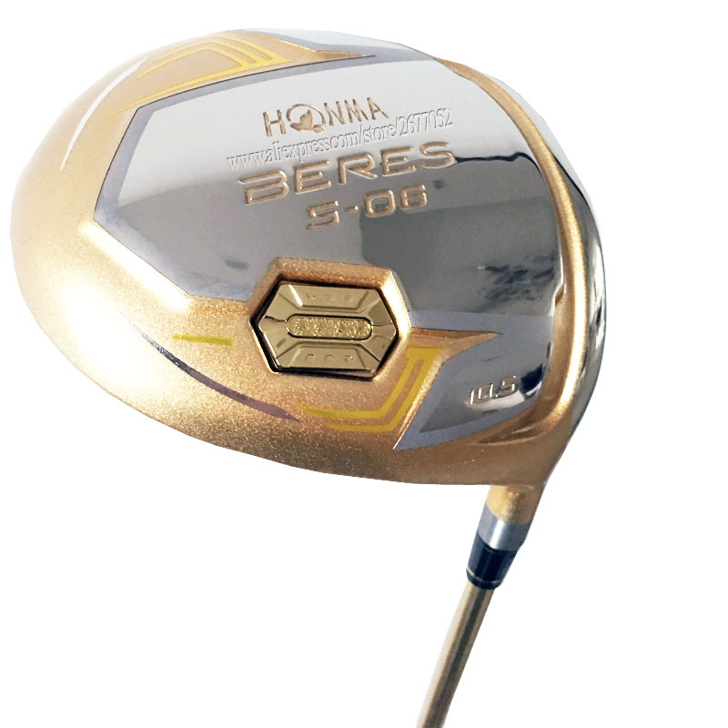 New Gold Golf Driver HONMA S-06 4star Driver Golf Clubs 9.5 Or 10.5 Loft Golf Graphite Shaft And Headcover Cooyute Free Shipping