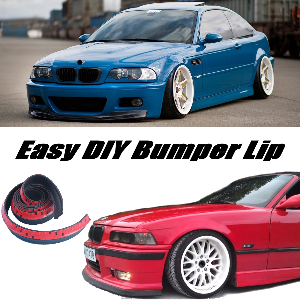 For <font><b>BMW</b></font> 3 <font><b>M3</b></font> E30 E36 <font><b>E46</b></font> E90 E91 E92 E93 F30 F31 F34 Bumper <font><b>Lip</b></font> Spoiler Deflector For Car Tuning / <font><b>Front</b></font> Skirt Body Kit Strip image