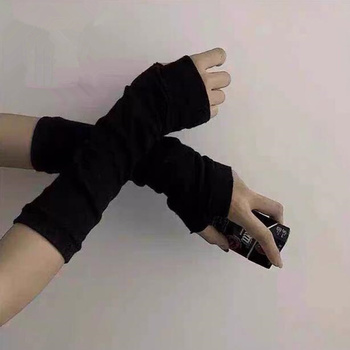 Anime Glove Cosplay Darkly Ninja Mitten Oversleeve Man Women Fashion Sun Block Keep Warm Cuff