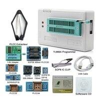 Promoção -- v8.33 tl866ii mais usb universal bios nand flash 24 93 25 mcu programador + 12 adaptadores