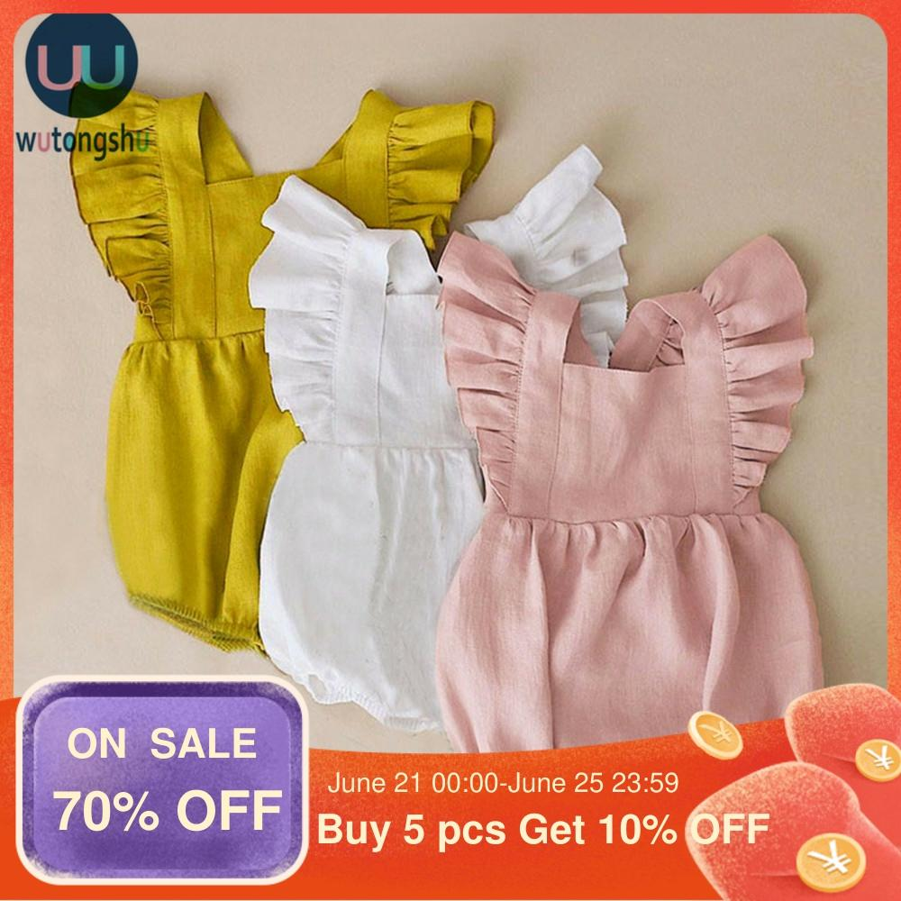 Hipapa Summer Baby Girls Rompers Ruffles Princess Baby Clothing Bebe Roupas Newborn Baby Clothes Infant Clothing Baby Outfit