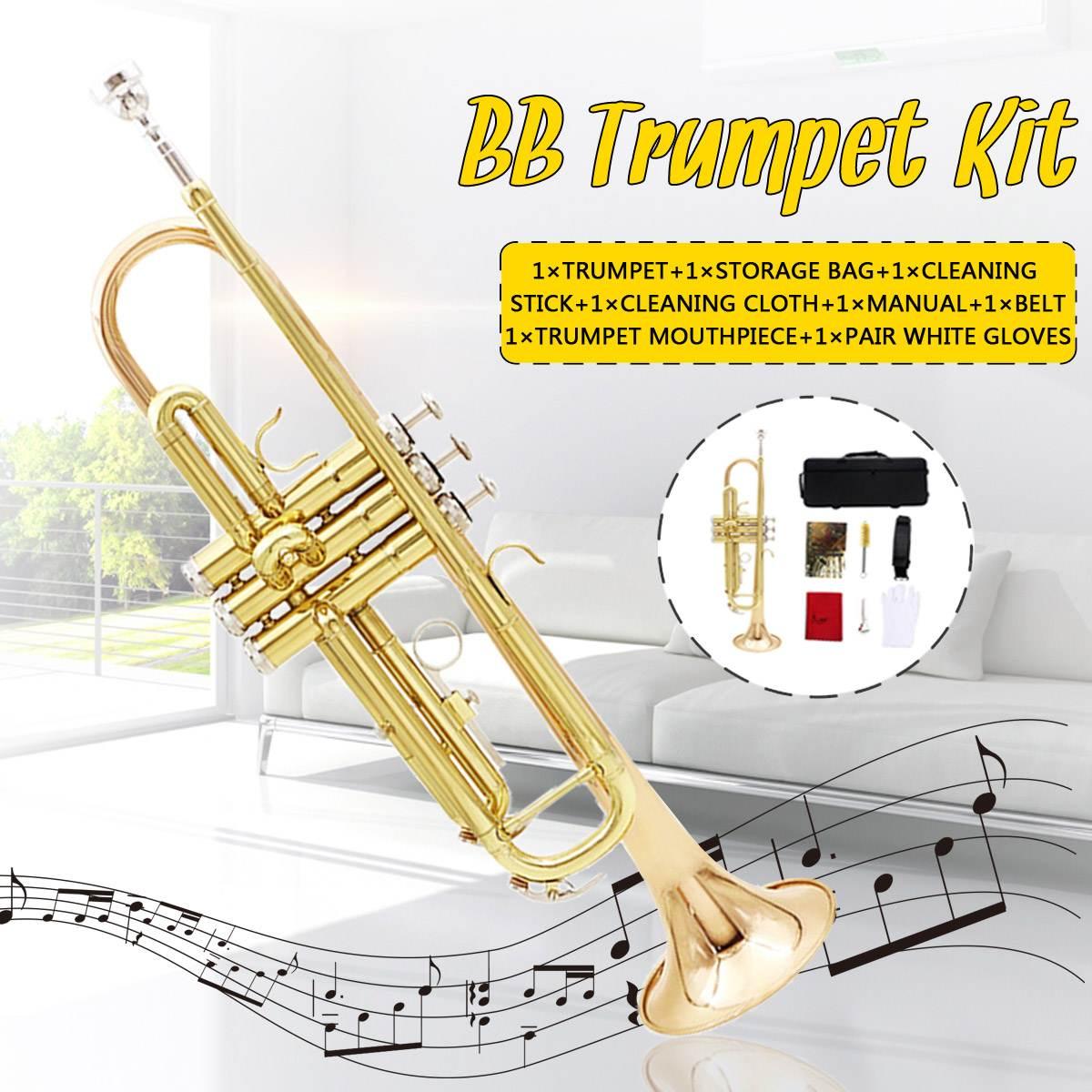 Bach trompette plaqué or clé LT180S-72 plat Bb professionnel trompette cloche haut Instruments de musique en laiton