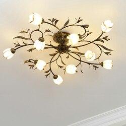 Wioska żelaza lampy sufitowe dekoracja nowoczesna lampa sufitowa do salonu nowoczesne łóżko sufit pokoju światła klasyczna oprawa oświetleniowa