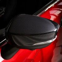 Para mitsubishi eclipse cruz 2018 2019 abs chrome e porta lateral de fibra carbono espelho retrovisor capa trims estilo do carro 2 pçs