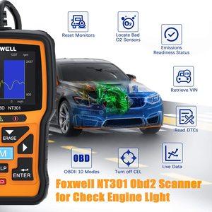 Image 2 - Foxwell NT301 OBD OBD2 Scanner moteur lecteur de Code outil de Diagnostic de voiture multi langues universel ODB 2 ODB2 Scanner automobile