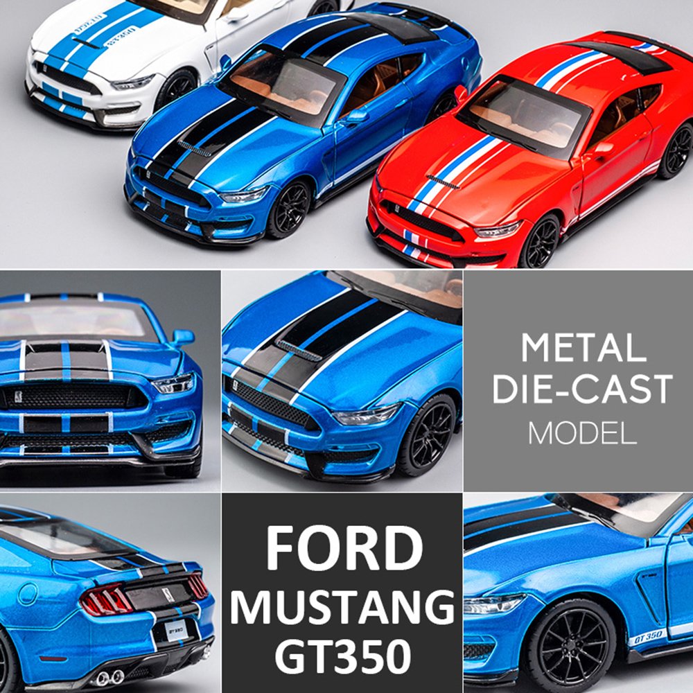 1 32 High Simulation Supercar Ford Mustang Shelby GT350 Car Model Alloy Pull Back Kid Toy