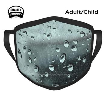 Bad Weather Driving Cycling Hunting Hiking Camping Mouth Mask Water Droplets Glass Blue Drips Liquid Pelham Ontario Lincoln image