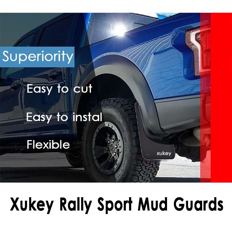 Front Rear Mud Flaps Splash Guards Fender Mudguards Universal For Pick-Up Truck