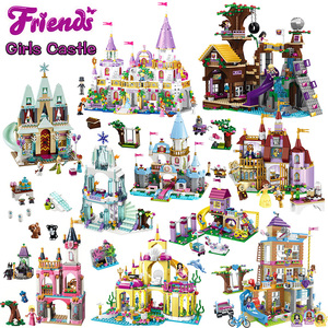 Girls Series Compatible ING Elsa Anna ICE Princess Castle Building Blocks Friends for Girls Bricks Figures Toys for Children(China)