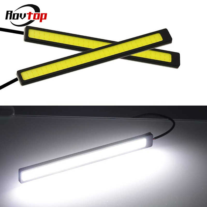 17cm 12V COB LED DRL Driving Daytime Running Lights Strip Waterproof Car Styling LED Lamp Auto Car Working Light Z2