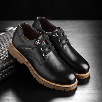 QWEDF Spring section 2019 Men's casual shoes male and leather face retro casual wear bulk shoes brown shoes leather F8-54