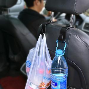 Image 5 - 2pcs Auto Sedile Posteriore Ganci di clip Universale Poggiatesta Hanger Bagagli Ganci per Appendere Prodotti Auto di Stoccaggio Borsa di Car Styling