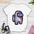 Regenbogen Stile Unter Uns T Hemd Frauen Louis Tomlinson Grafik T Shirts Femme Harajuku Feine Linie Weiß T-shirt Koreanische Stil tops