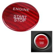 Углеродное волокно автомобиля старт стоп кнопка крышка набор для Mercedes Benz A B C Glc Gla Cla Ml Gl класс W176 W246 W205 X253 X156 C117