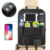 LCAV Auto Sedile Posteriore Dell'organizzatore del sacchetto con 4 USB cavo del caricatore