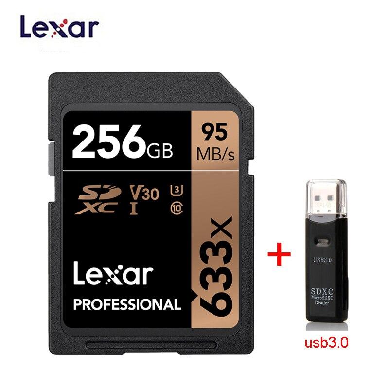 Computer & Office ... Internal Storage ... 32801544671 ... 2 ... Lexar SD Card 633x Original 95M/s 32GB U1 SDHC 64GB 128GB 256GB 512G U3  SDXC Class 10 Memory Card For 1080p 3D 4K video Camera ...