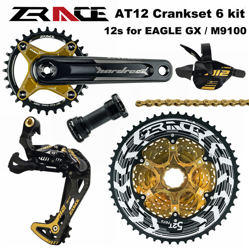 ZRACE AT 12 Speed Crankset Shifter Rear Derailleur 12s Alpha Cassette 52T Chains for SHIMANO EAGLE