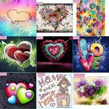 YIKEE diamond painting,love,diamond embroidery,5d,full,diamond painting cross stitch NEW TOOL